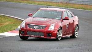 The 2010 Cadillac CTSv posted six of the seven fastest laps during a take-on-all-comers race at Monticello Motor Club.