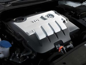 This 2.0-liter turbo diesel, in the 2010 VW Golf TDI, is fun to drive but still makes 42 mpg on the Highway.