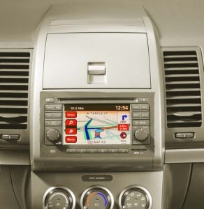 Nissan is offering this navigation system on the Sentra and Versa models for just $400.
