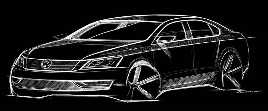 First Look: 2012 Volkswagen Midsize Sedan
