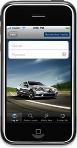 Mercedes-Benz Financial has launched what it claims is the first automotive finance app for the iPhone and iPod Touch.