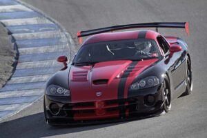Track-ready, yes, but the 600-hp 2010 Dodge Viper SRT10 ACR is also street legal.
