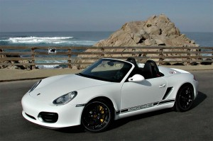 Lighterweight means markedly better performance with the 2010 Porsche Boxster Spyder.