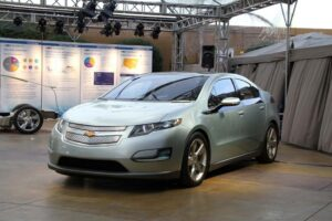 The first production versions of the Chevrolet Volt - a prototype is shown here - will go to California.
