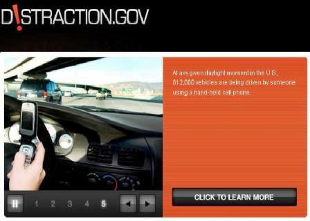 NHTSA Opens Distracted Driving Web Site