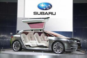 The Subaru Hybrid Tower concept signals the Japanese maker's plan to launch its first -electric model in 2012.its fi
