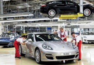 Porsche Panamera number 10, 000 rolled off the production line at the Leipzig plant