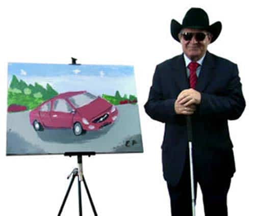 Blind Artist's Volvo Painting Sold