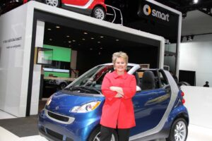 With the brand's sales off another 60%, last year, Smart USA boss Jill Lajdziak can only hope and wait for the distributor's planned 4-seat model.