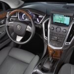 The Cadillac SRX's interior is mostly well done and comfortable.