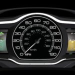 The Lincoln MKZ Hybrid will have the same instrument panel as the Ford Fusion Hybrid. Leaves on the right screen indicate green driving.