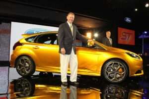 Ford CEO Alan Mulally, shown during the European unveiling of the Focus ST model.