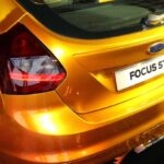 The angle most folks will see of the 246-hp Focus ST.