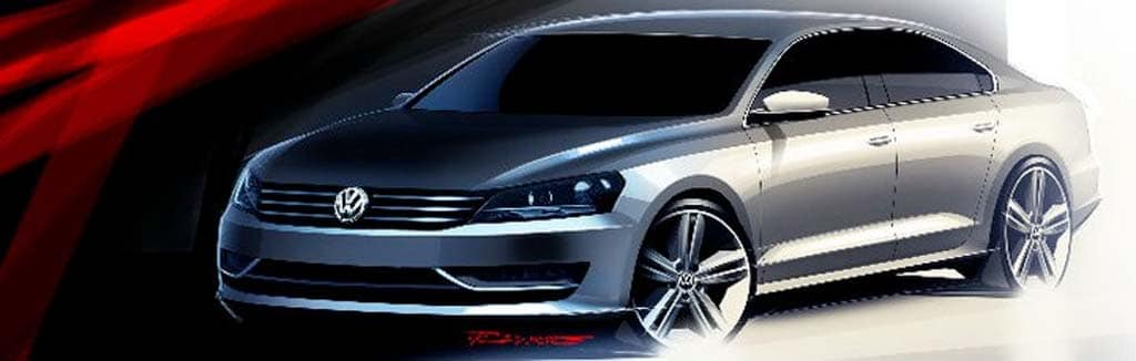 VW Release NMS Sketches Just As It Unveils New European Passat.