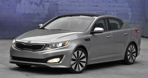 Kia's first hybrid is a gas-electric version of the Optima.