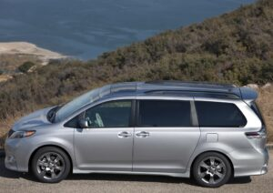 The Toyota minivan is targeted for recall due to potential corrosion problems that could cause its spare tire to fall off.