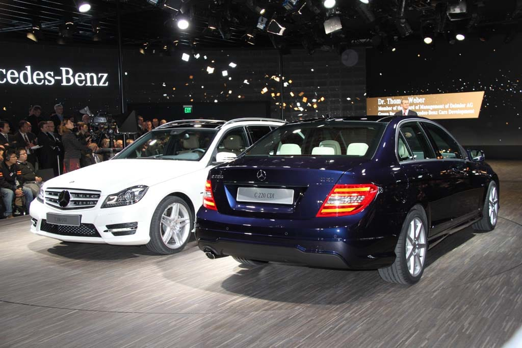first look 2012 mercedes benz c class 2012 mercedes c class sedan and wagon. Black Bedroom Furniture Sets. Home Design Ideas