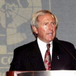Did former Delphi Chief J.T. Battenberg - shown here at a 2003 conference - mislead investors?
