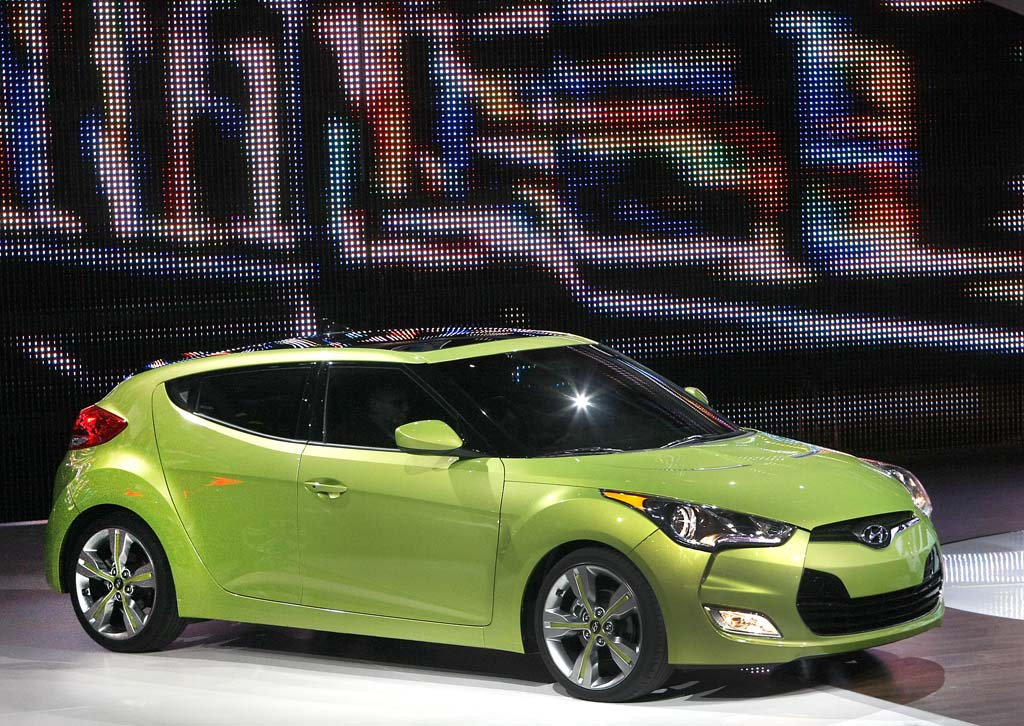 Great Hyundaiu0027s Veloster Is One Of The More Interesting Vehicles On Display At  The North American International