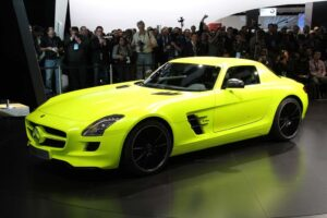Who says battery power can't be fun? The Mercedes SLS E-Cell is one of the big debuts at the 2011 Detroit Auto Show.