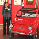 U.S. brand chief Laura Soave with the original Fiat 500.