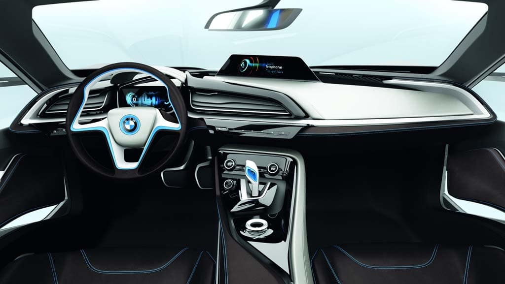 First look bmw i3 and i8 electric concept cars bmw i8 for Bmw i8 interior