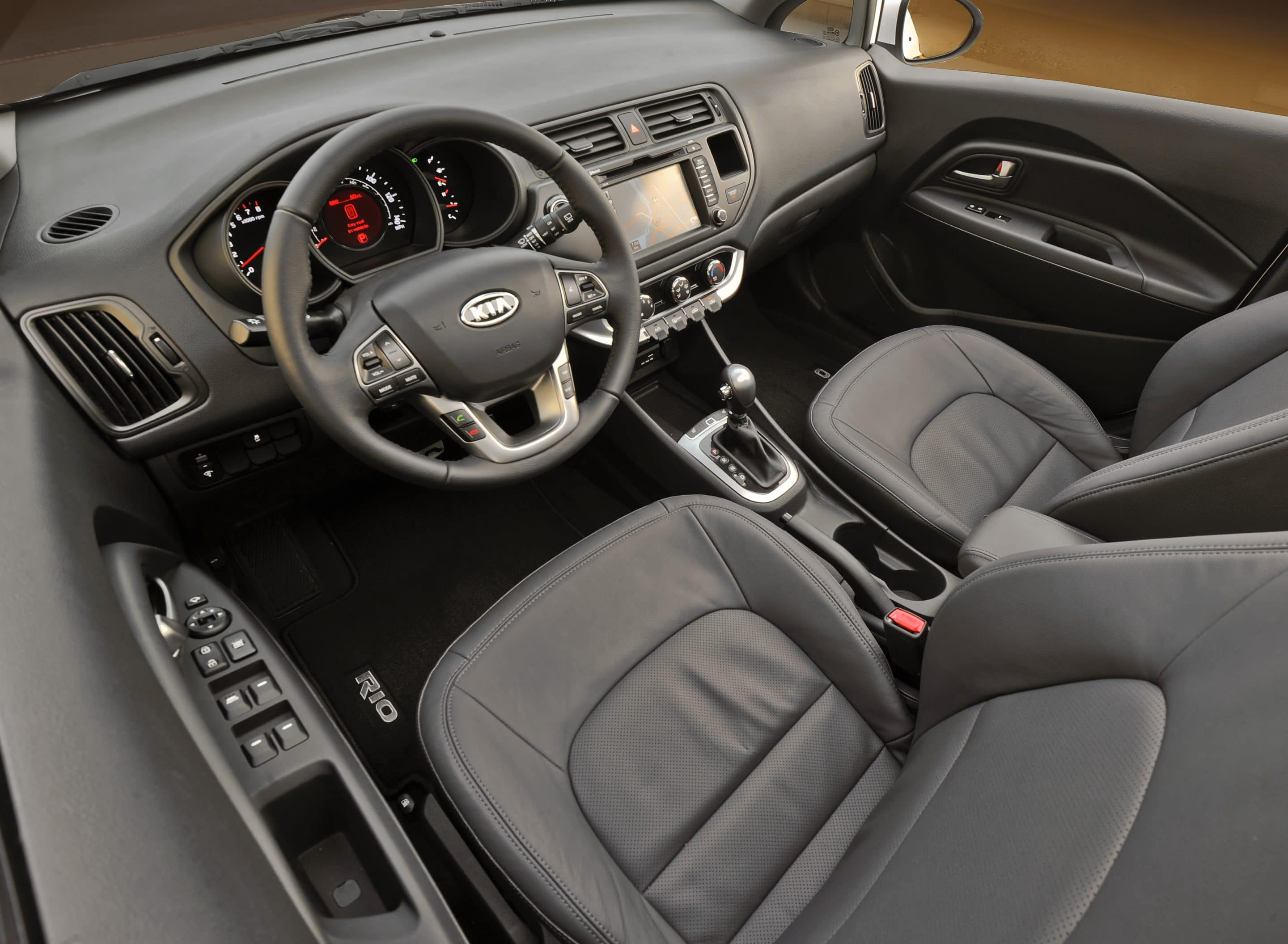 The Well Appointed Interior Says The 2012 Kia Rio ...