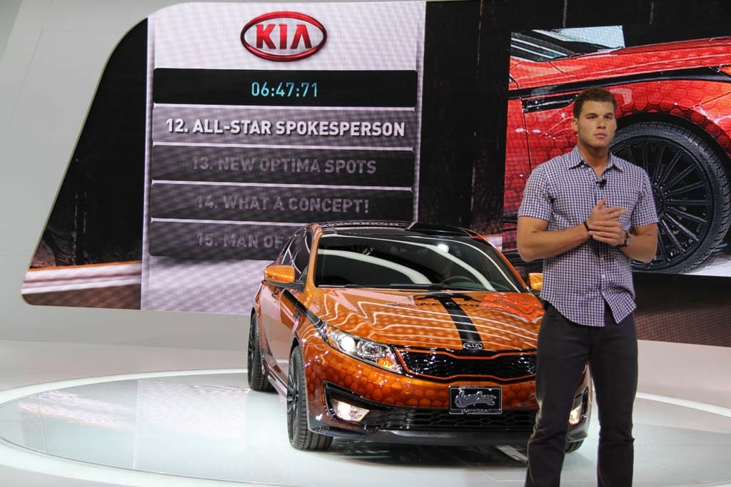 Nba Star And New Kia Spokesman Blake Griffin