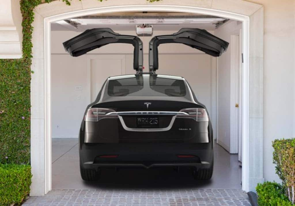 tesla model x  u2013 in garage