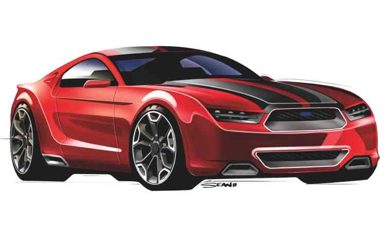 Are you the 50th anniversary Mustang? A rendering by artist Sean Smith
