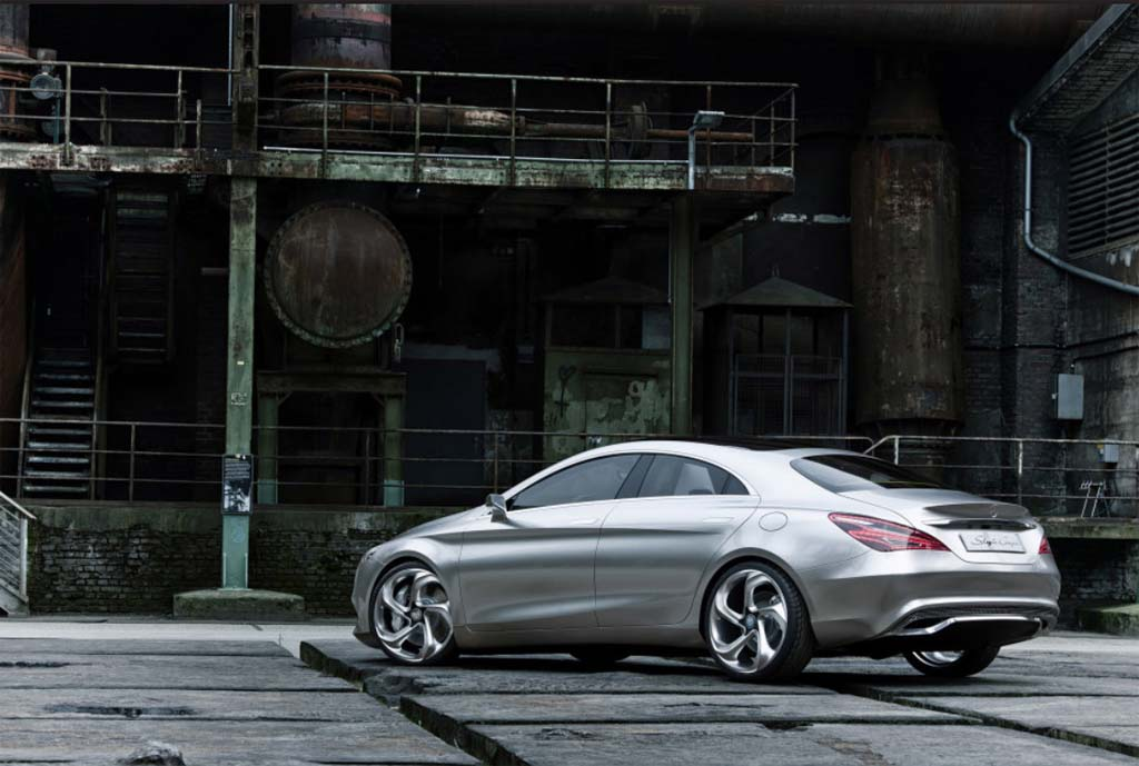 First look mercedes downsized coupe like csc sedan for Mercedes benz cla 2012