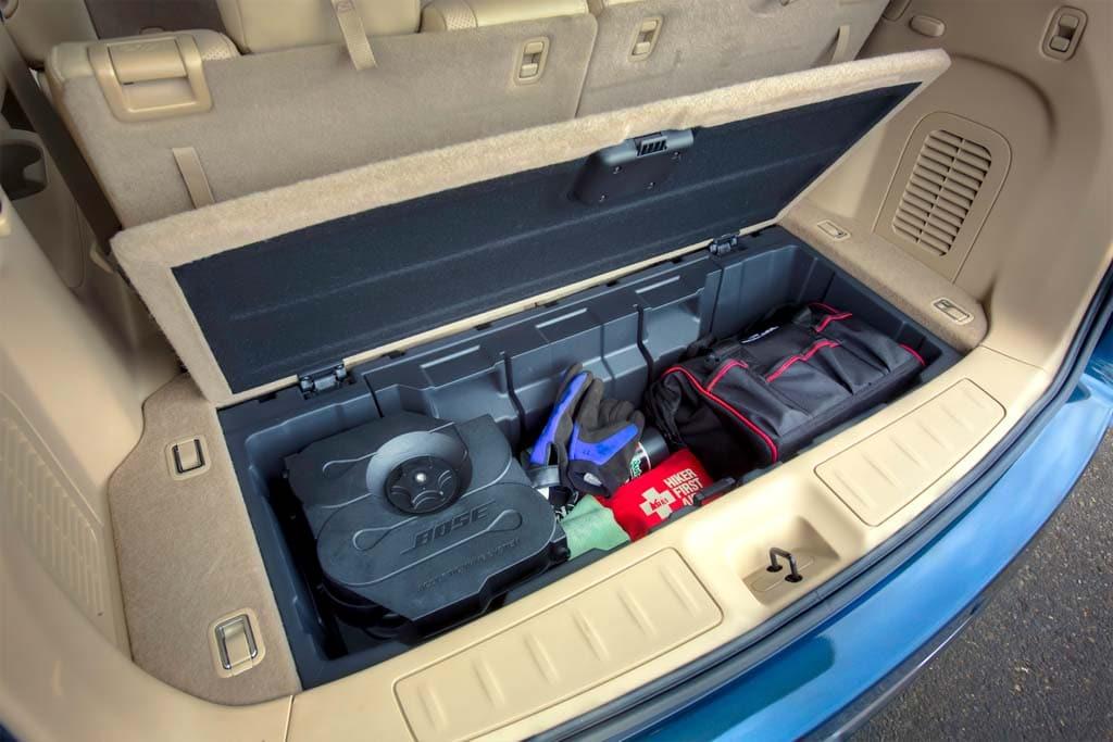 First Drive 2013 Nissan Pathfinder 2013 Nissan Pathfinder Hidden Storage