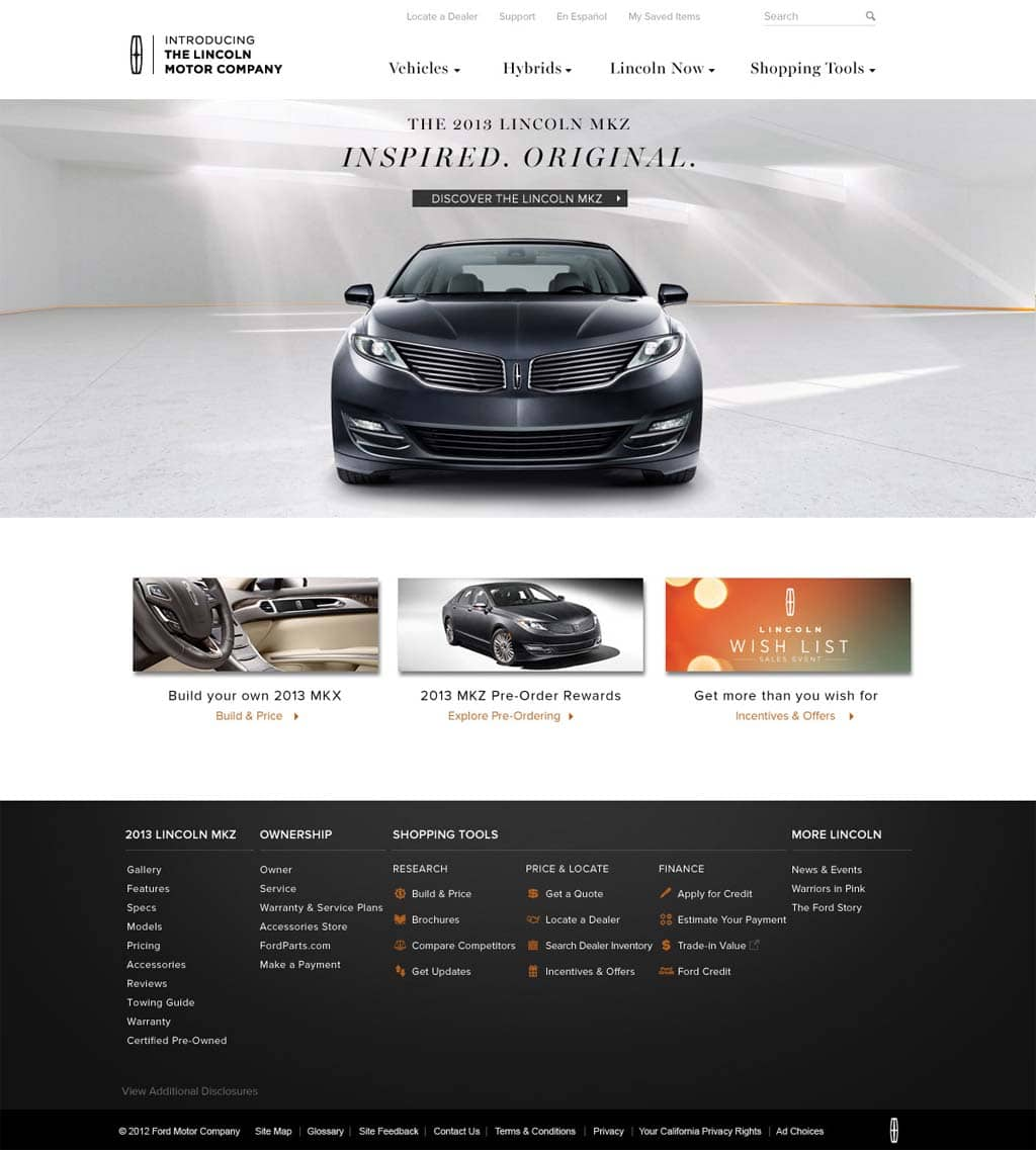Forward into the past for newly renamed lincoln motor co for Lincoln motor company news