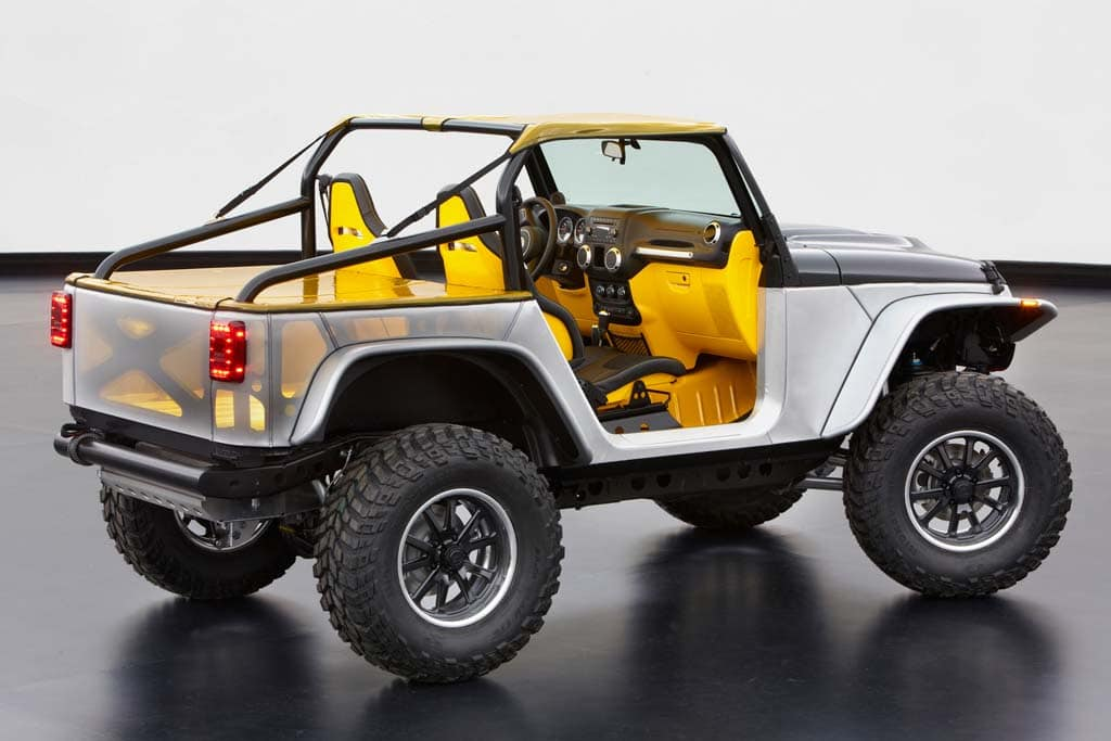 Jeep tackling moab with six concept utes for Architectural metal concepts nj