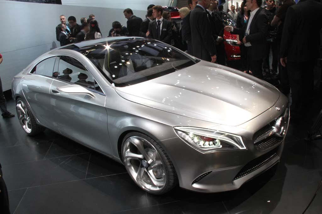The Mercedes CLA Concept debuting in Beijing last year. The production