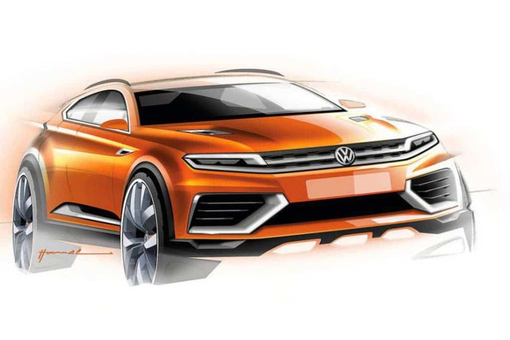 Leak of VW CrossBlue Coupe Concept Leak Ahead of