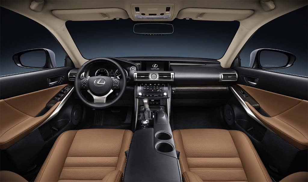 The Interior Of The New Lexus IS 350.