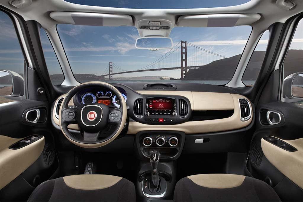 The Interior Of The Fiat 500L Is Not Just Roomy But Offers Great Visibility.