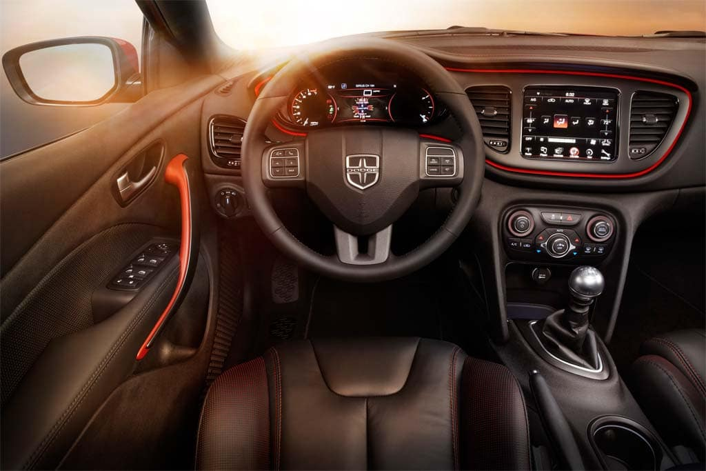The Dodge Dart GT's well-executed interior and lavish list of features