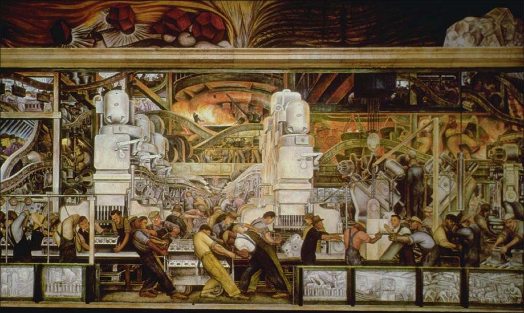 Ford wants to boost white collar hiring by 36 but for Diego rivera detroit mural
