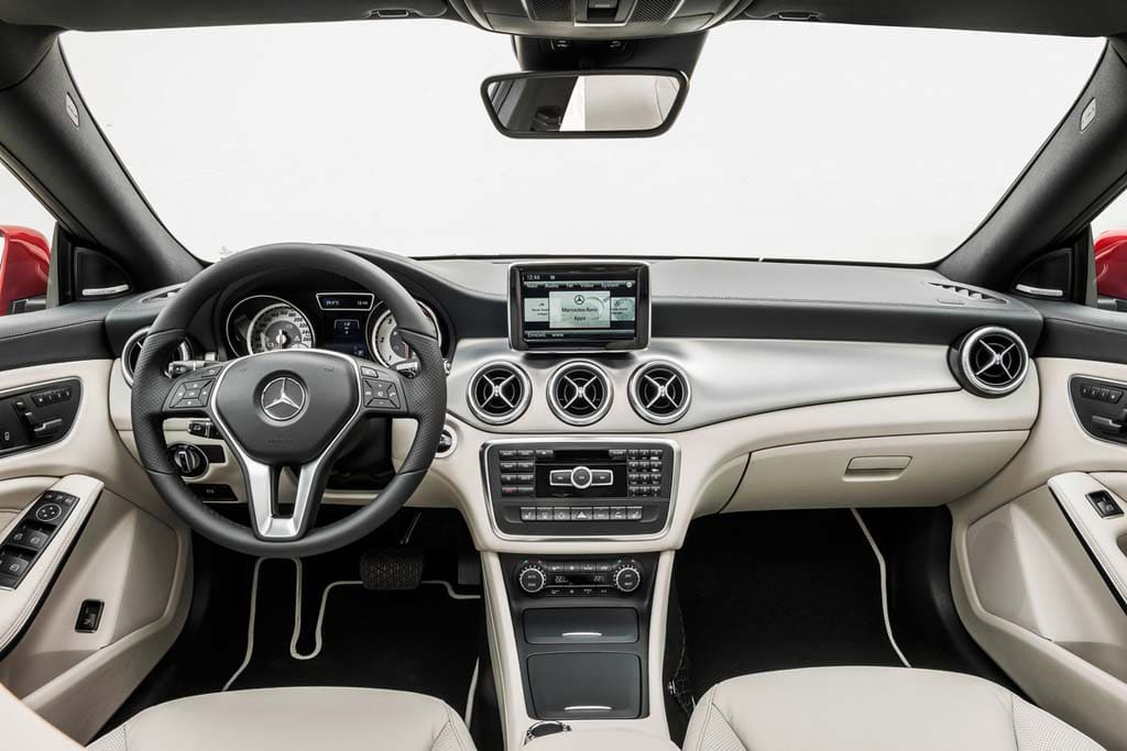 Nice This Shot Of The CLA 250 Shows The Tablet Like Navi Screen Mounted Atop The