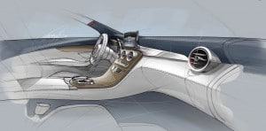 This sketch shows some of the updates coming for the new C-Class.