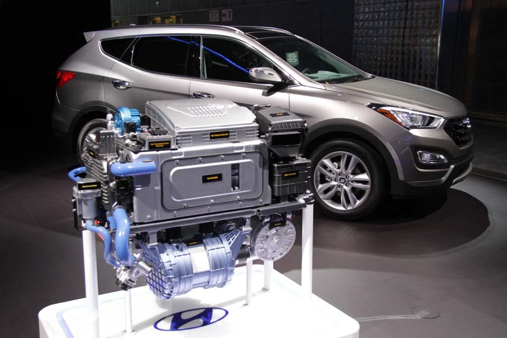 Model Hydrogen Fuel Cell Cars The Hyundai fuel cell stack