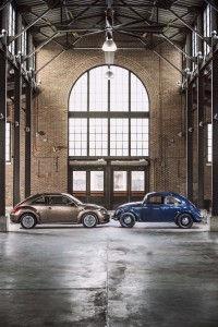 The original Beetle and the latest, third-generation Bug - which could be VW's last.