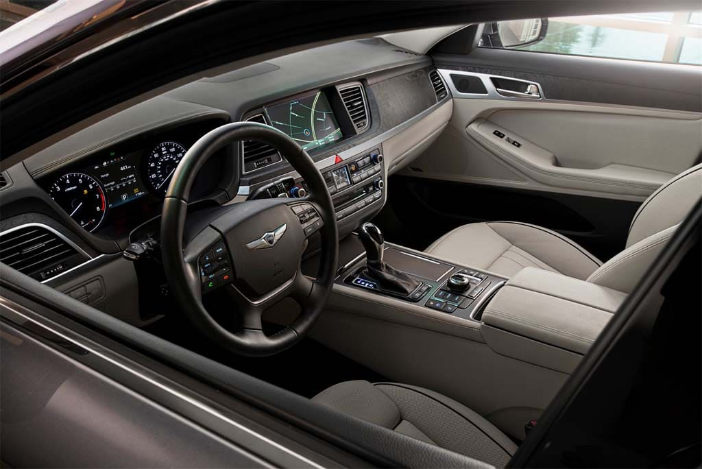 The Upgraded 2015 Genesis Interior.