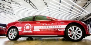 A team of four is attempting to set a world record by driving a Tesla Model S from Los Angeles to New York using only the maker's network of superchargers in just three days.