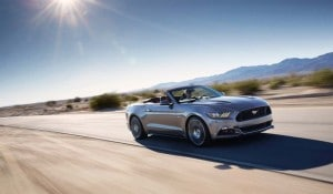 The 2015 Ford Mustang Convertible gets an easier to close top for 2015.