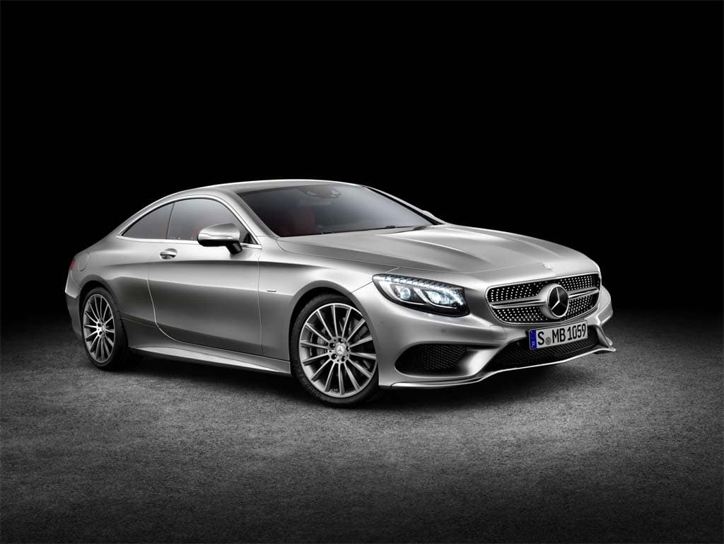 Mercedes offers first official look at new s class coupe for Mercedes benz flagship car