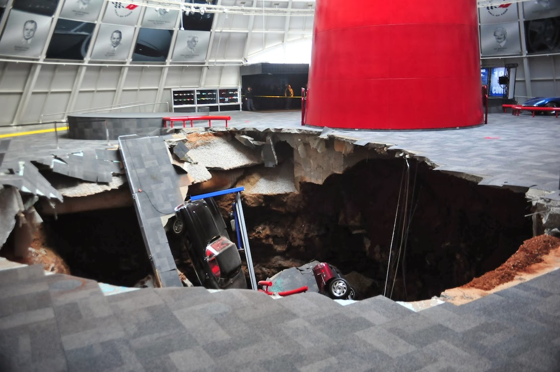 Corvette Museum Keeps Sinkhole for Display