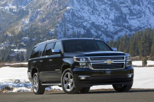 The 2015 Chevrolet Suburban with more contemporary styling, improved